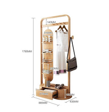 Shop zcyx mirror body household dressing mirror wood hanger bedroom multi purpose coat rack storage rack hanger hooks color a