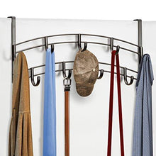 Discover the best lynk over door accessory holder scarf belt hat jewelry hanger 9 hook organizer rack bronze