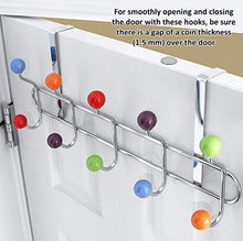 Discover the galashield over the door hook rack multi color ceramic knobbed hooks and stainless steel rack