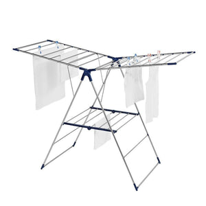New leifheit roma 150 tripod clothes drying rack silver blue