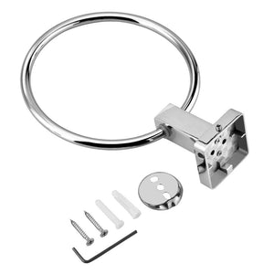 Asixx Towel Ring, Stainless Steel Towel Ring Bathroom Towel Ring Towel Holder Bathroom Accessories Wall Mounted
