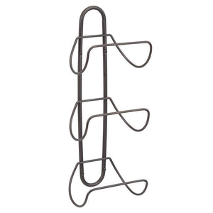 Discover mdesign modern decorative metal 3 level wall mount towel rack holder and organizer for storage of bathroom towels washcloths hand towels 2 pack bronze