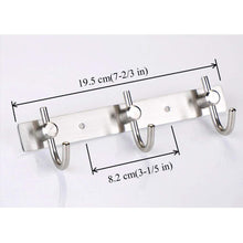 On amazon mellewell hook rail coat rack with 3 hooks stainless steel 304 brushed nickel pack of 2