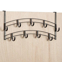 Explore lynk over door accessory holder scarf belt hat jewelry hanger 9 hook organizer rack bronze