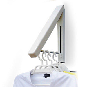 Featured folding clothes hanger wall mounted retractable clothes hanger drying rack great space saver for laundry room attic garage indoor outdoor use stainless steel easy installation 81258