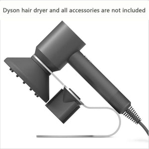 Storage h zt dyson supersonic hair dryer stand holder aluminum alloy bracket for dyson supersonic hair dryer diffuser and two nozzles stand