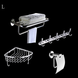 Latest deed wall hanging mount rack toilet stainless steel pendant set bathroom hardware rack set a total of 4 storage rack l