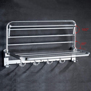 Top towel rack towel rack stainless steel multi function foldable perforated bathroom shelf suitable for bathroom color c