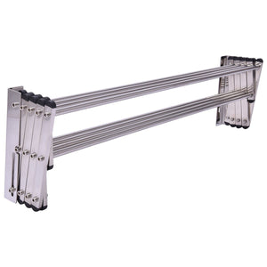Amazon best tangkula wall mount drying rack bathroom home stainless steel laundry drying rack folding clothes rack expandable towel rack 34x25x9stainless steel
