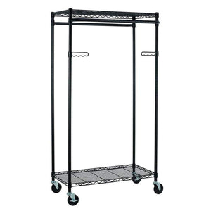 Top rated tidyliving garmen heavy duty garment rack commercial grade double rod rolling organizer adjustable hanging clothes stand