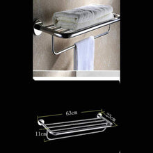 New deed wall hanging mount rack toilet stainless steel pendant set bathroom hardware rack set a total of 4 storage rack l