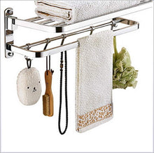 Tower Hanger- Towel Bar Contemporary Stainless Steel/Iron 1Pc Double Wall Mounted