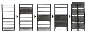 Budget friendly sorbus bookshelf rack 4 tiers open vintage bookcase storage organizer modern wood look accent metal frame shelf rack furniture home office no assembly required