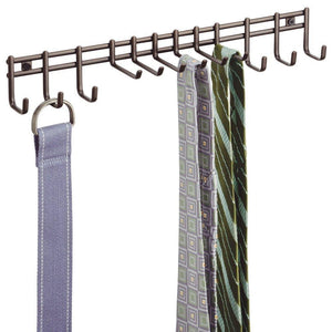 Top rated interdesign axis wall mount closet organizer rack for ties belts bronze