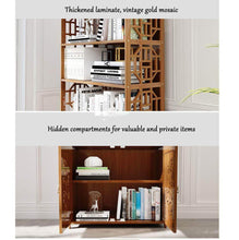 Great dulplay wood en bookcase with doors thickened floor standing orchard hills library easy assembly multifunctional tall bookshelf storage rack for home c 69x30x164cm27x12x65inch