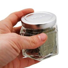 Try gneiss spice large empty magnetic spice jars create a diy hanging spice rack on your fridge includes hexagon glass jars magnetic lids spice labels 24 large jars silver lids