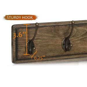 Heavy duty argohome coat rack wall mounted wooden 27 coat hooks scroll hook 6 rustic hooks solid pine wood perfect touch for entryway bathroom closet room
