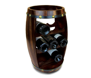 Try puzzled alexander wine rack 8 bottle free standing wine holder bottle rack floor stand or countertop wine wooden barrel decor storage organizer liquor display to decorate home kitchen bar accessory