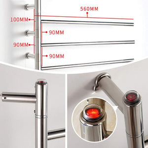 Results mengen88 wall mounted style heated towel rack stainless steel electric towel rack cloth bath towel heater heater rail 47w power