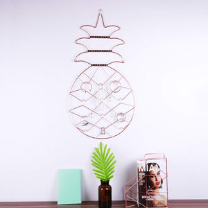 Amazon jewelry organizer nugoo pineapple shape hanging jewelry display holder wall mount jewelry rack for earrings necklaces and bracelets rose gold