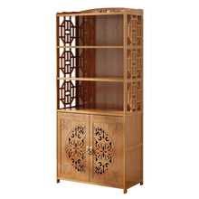 Featured dulplay wood en bookcase with doors thickened floor standing orchard hills library easy assembly multifunctional tall bookshelf storage rack for home c 69x30x164cm27x12x65inch