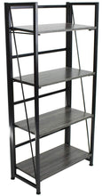 Budget sorbus bookshelf rack 4 tiers open vintage bookcase storage organizer modern wood look accent metal frame shelf rack furniture home office no assembly required