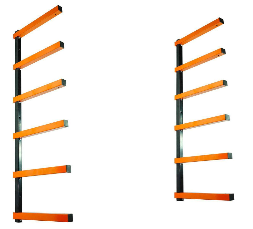 Purchase kastforce kf1006 lumber storage rack 6 level system 110 lbs per level with durable sheet metal screws wood rack workshop rack