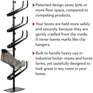 Buy boot butler standing boot rack as seen on rachael ray clean up your floor protect your boots 5 pair stand organizer shaper tree