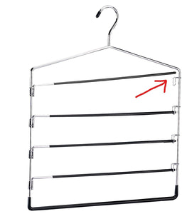 Buy now organize it all 5 tier swinging arm pant rack stainless steel