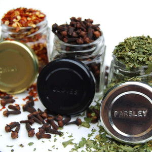 Organize with gneiss spice everything spice kit 24 magnetic jars filled with standard organic spices hanging magnetic spice rack large jars silver lids