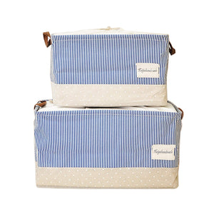 Storage Bins Toy Storage Large Canvas Baby Cloth Laundry Storage Baskets Foldable Closet Cube with Handles Set of 2