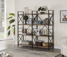 Top rated homissue 4 shelf industrial double bookcase and book shelves storage rack display stand etagere bookshelf with open 8 shelf retro brown 64 2 inch height