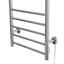 Discover the fdinspiration 35 5 electric wall mounted stainless steel bathroom towel warmer dryer heated rail w 9 bars top shelf rack with ebook
