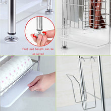 Selection 3 tier dish drying rack dish drainer kitchen storage organization shlef stainless steel geyueya home