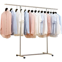 Online shopping reliancer heavy duty large garment rack stainless steel clothes drying rack commercial grade extendable 47 77inch clothes rack adjustable clothes hanger rolling rack with 4 casters tool golves 10 hook