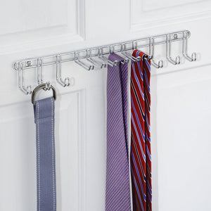 Amazon best interdesign classico wall mount closet organizer rack for ties belts chrome