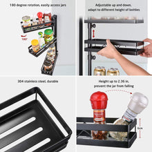 Buy 3 tier wall mounted spice rack organizer kinghouse kitchen bathroom storage organizer spice bottle jars rack holder with adjustable shelf stainless steel