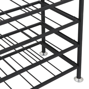 Products homgarden 54 bottle free standing deluxe large foldable metal wine rack cellar storage organizer shelves kitchen decor cabinet display stand holder