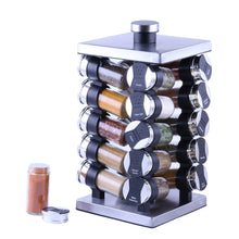 Featured orii gsr3920 rotunda 20 jar spice rack silver black