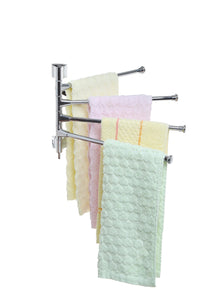 Purchase mygift wall mounted stainless steel swivel towel bar 4 swing arm hand towel drying rack for bathroom and kitchen