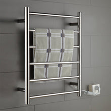 ONDA Towel Warmer Stainless Steel Wall Mounted Heated 6 Bars 110-120V