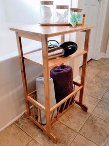 Online shopping splashsoup bamboo side table compact book magazine media rack end piece natural bathroom towel stand living room corner organizer entryway caddy