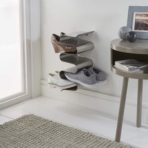 On amazon j me nest wall shoe rack shoe organizer keeps shoes boots sneakers and sandals off the floor a great wall mounted shoe storage solution for your entryway or closet