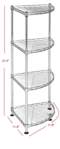 Top happimess aleah 4 tier corner storage rack chrome