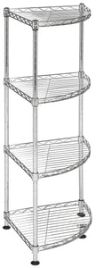 Storage happimess aleah 4 tier corner storage rack chrome