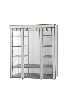 Purchase dream palace portable fabric wardrobe with shelves covered closet rack with bonus sock organizer hanger pack extra wide 59 white