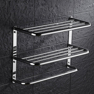 Exclusive kaileyouxiangongsi 24 inch shelf towel rack stainless steel two tier