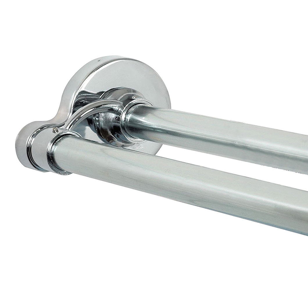 Zenna Home 36602SS, NeverRust Aluminum Double Tension Shower Curtain Rod, 44 to 72-Inch, Chrome
