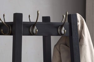 Best roundhill furniture vassen coat rack with 3 tier storage shelves black finish