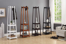 Amazon best roundhill furniture vassen coat rack with 3 tier storage shelves black finish